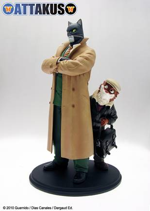 Figurine de Blacksad et de Weekly