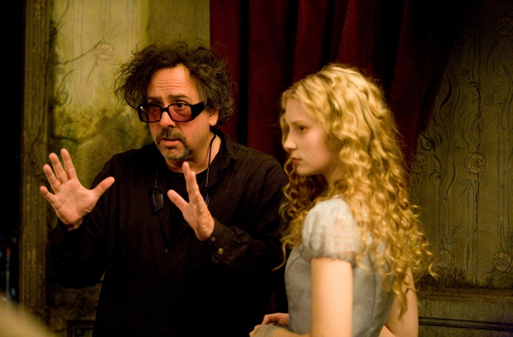 Image du tournage d'Alice au Pays des Merveilles (DR)