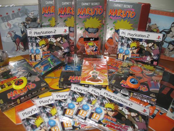 Lots du concours Naruto organisé par Kana