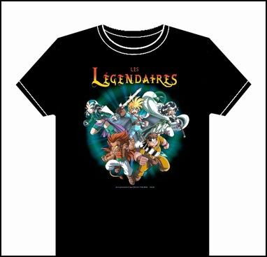 T shirt des Légendaires vendus par la librairie Album de Limoges