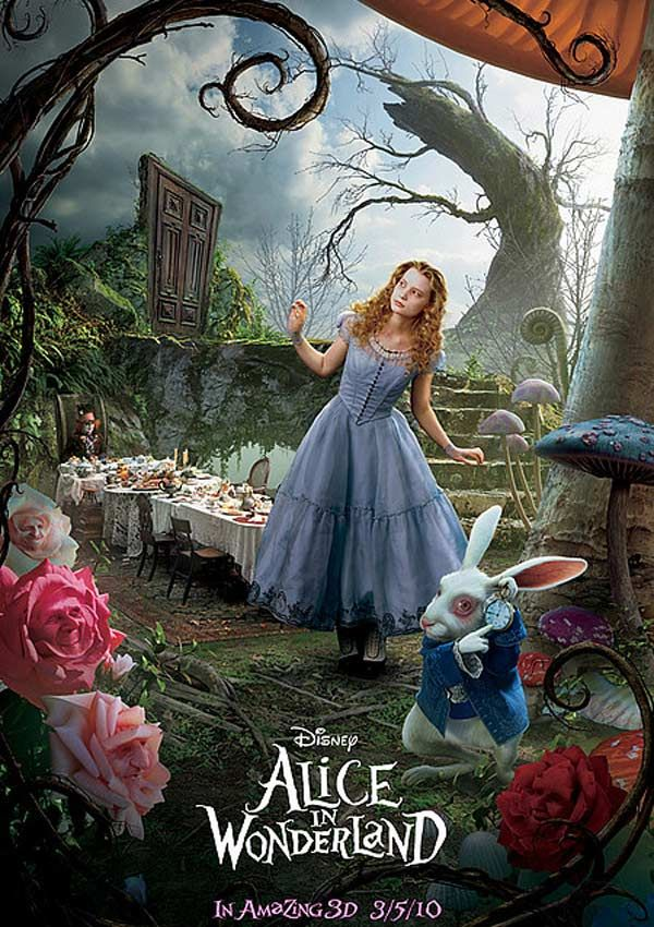 Teaser amricain du film alice au pays des merveilles