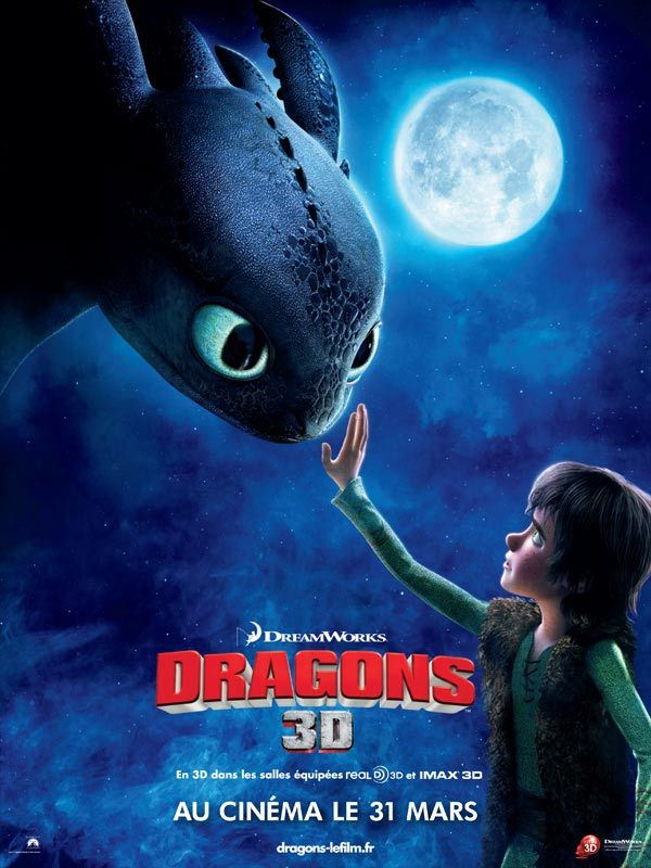 Affiche du film Dragon du studio DreamWorkds