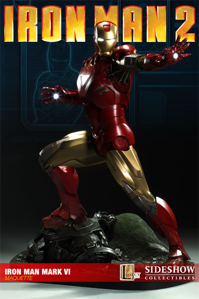 Photo de la figurine Sideshow Collectibles d'Iron Man 2