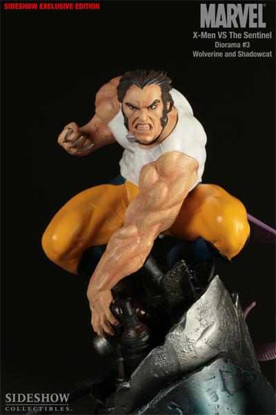 Figurine de Wolverine et Kiddy Pride (X men)