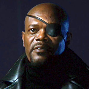 Samuel L. Jackson en Nick Fury