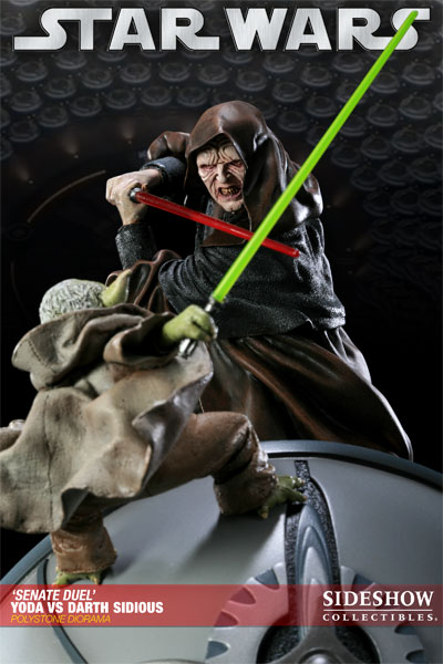 Duorama Sideshow Collectibles Star Wars Yoda vs Empereur