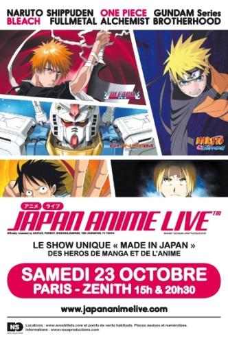 Affiche Japan Anime Live