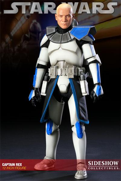 Figurine Sideshow Collectibles Star Wars sur le capitainre Rex