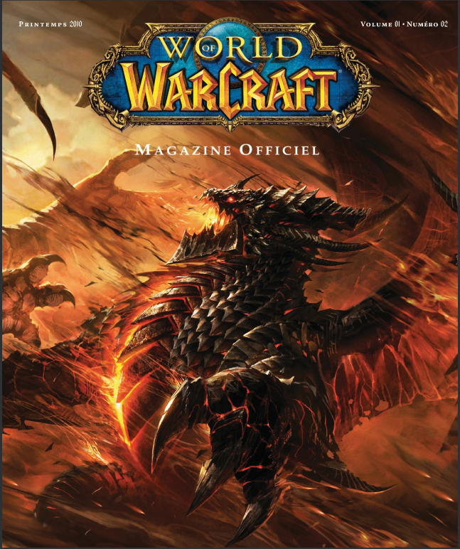 Couverture du magazine 2 de World of Warcraft