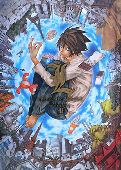 Couverture de L change the world (roman tiré de Death Note)