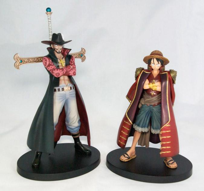 One Piece - Figurines Mihawk et Luffy, collection Grandline Men Vol.3