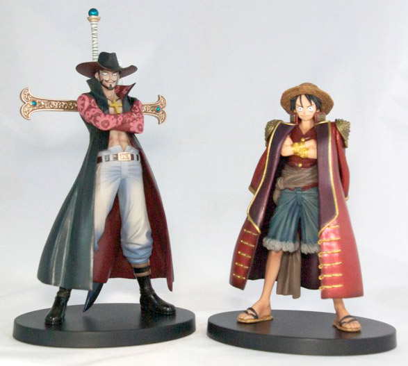 One Piece - Figurines Mihawk et Luffy, collection Grandline Men Vol.3