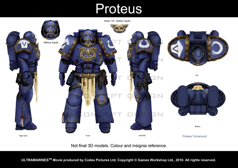 Image de production du film Warhammer 40000 Ultramarines