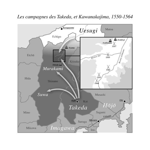 Carte Kawanakaji tirée du livre le Crépuscule des samourais