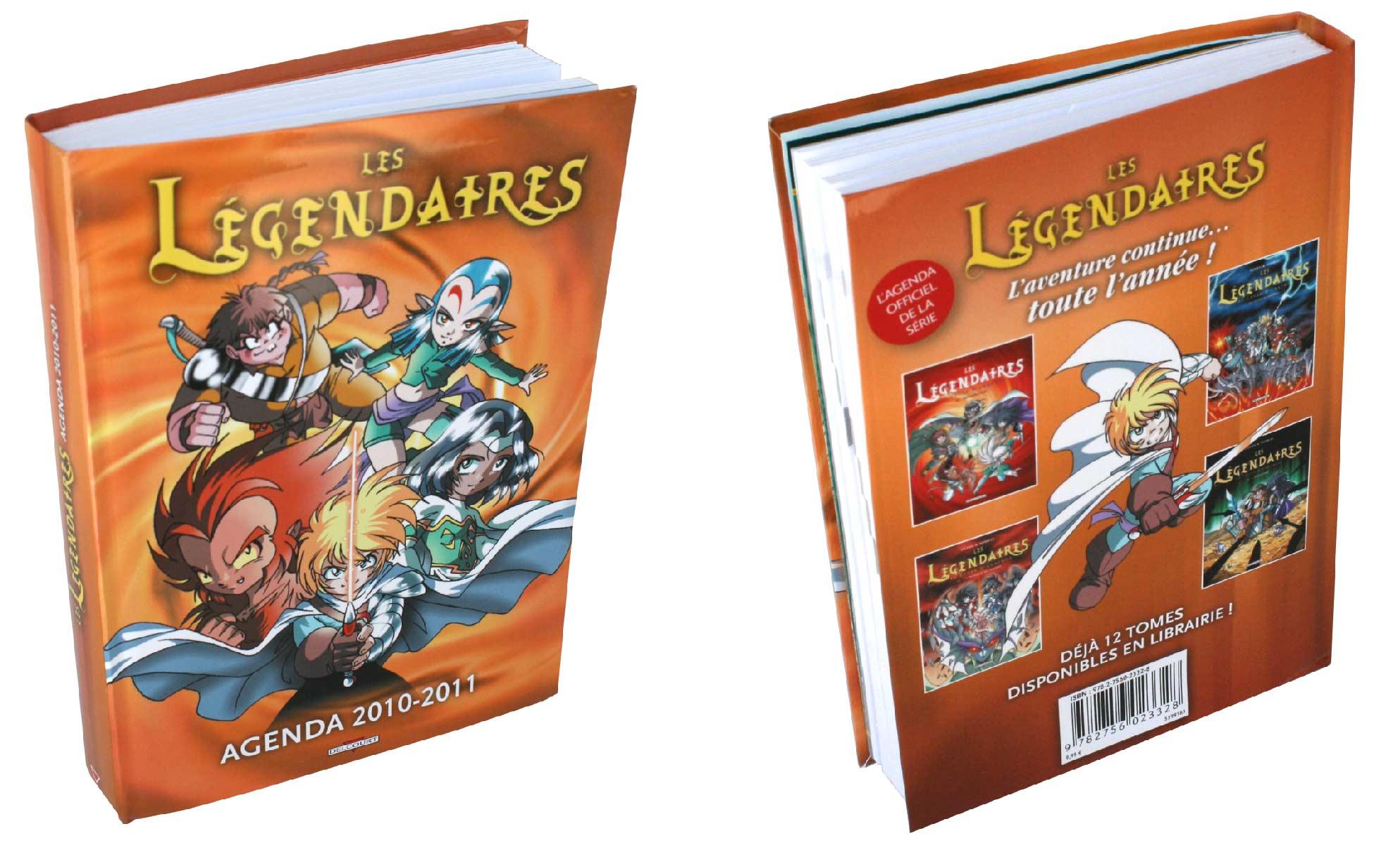 L'agenda 2010 -2011 des Légendaires