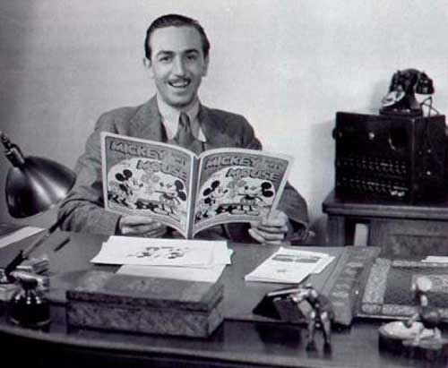 Walt Disney l'un des deux fondateurs de l'empire Disney