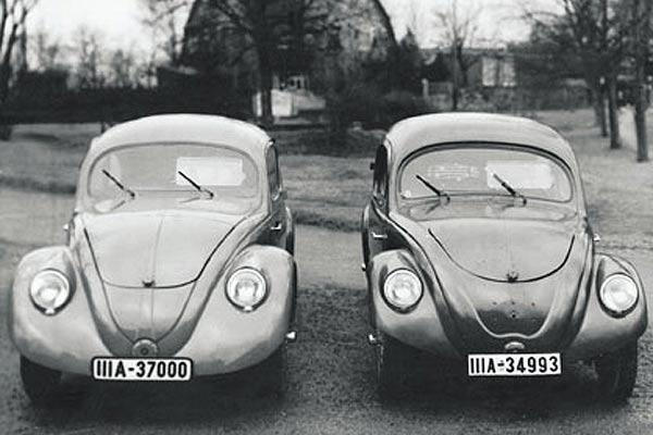 prototype de la Volkswagen (la coccinelle)