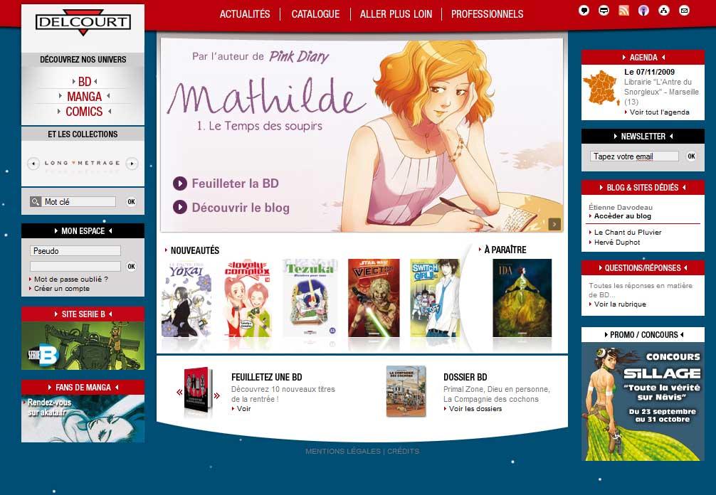 Site Web de Delcourt