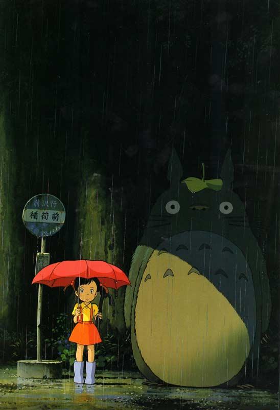 Art Book Totoro : The Art of Tororo (page 6) image de qualité servant à vendre le concept aux producteurs, même si la fille est un mélange de Mei et Satsuki