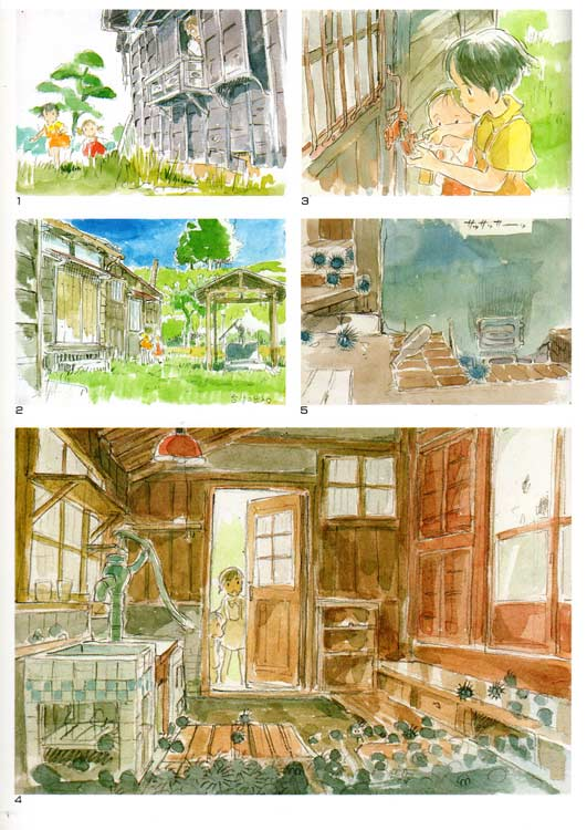 Art Book Totoro : The Art of Tororo (page 59) croquis de recherche
