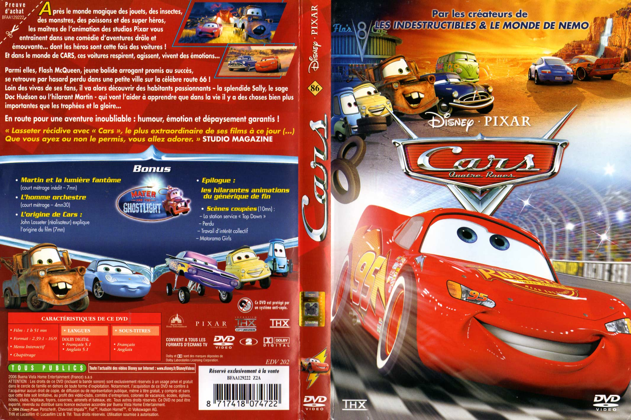 cars 1 pixar 2006. Black Bedroom Furniture Sets. Home Design Ideas