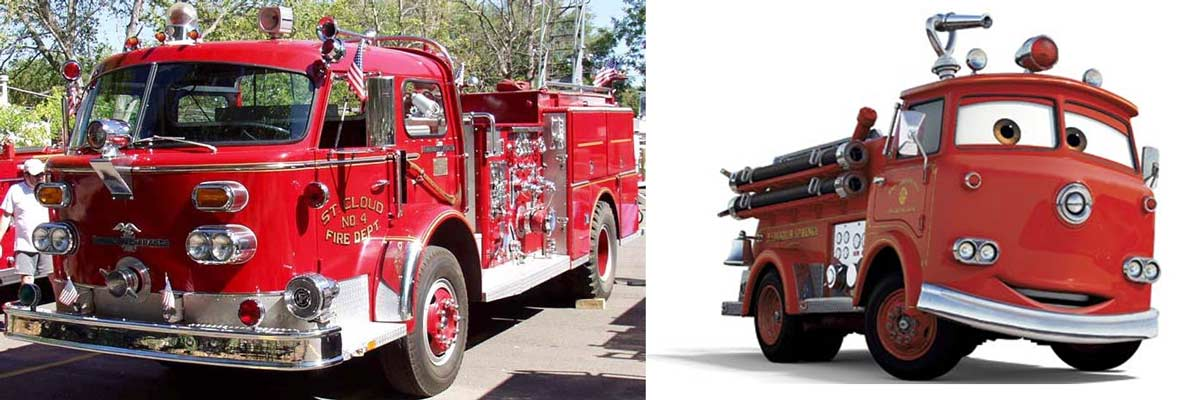 Red : Camion de pompier American LaFrance