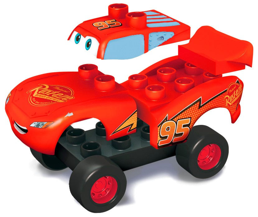 mega bloks flash mcqueen 2007 cars. Black Bedroom Furniture Sets. Home Design Ideas