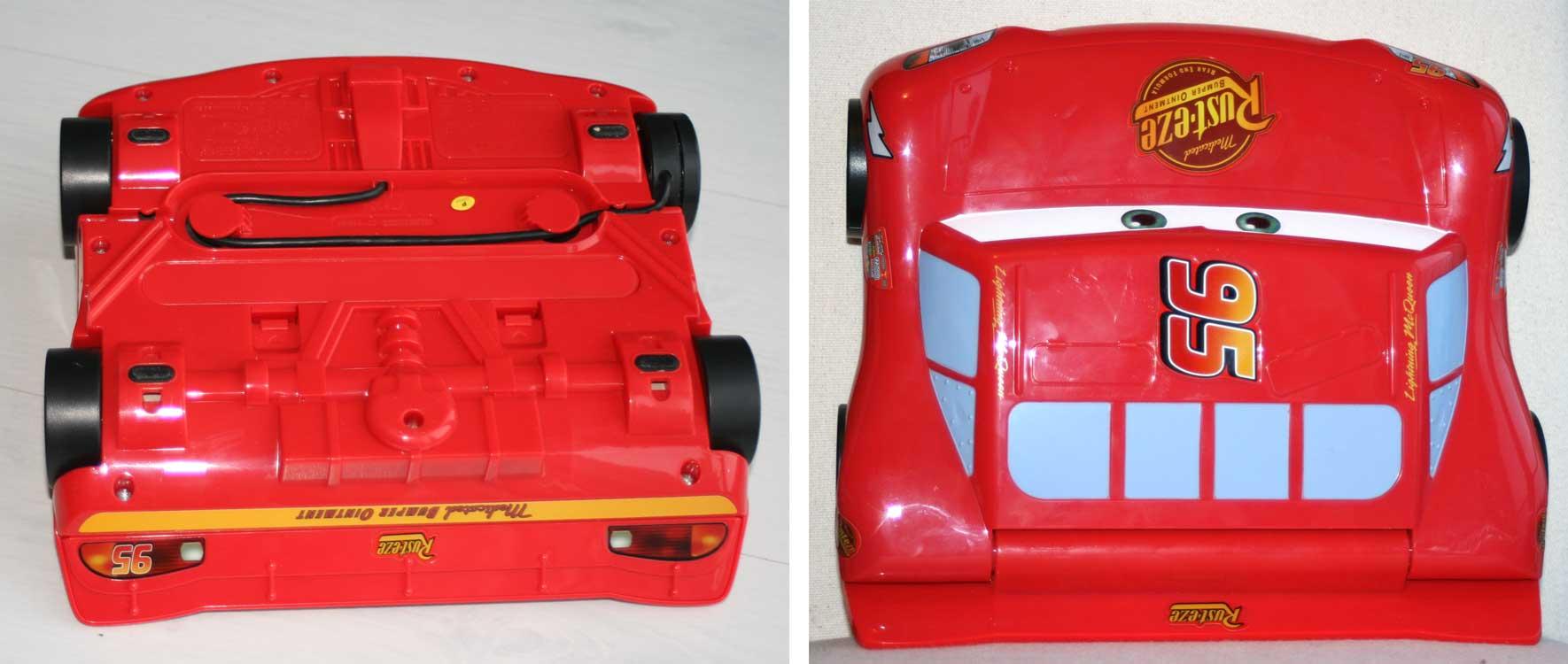 vue de dessus et dessous - Genius Flash McQueen (2008) Ordinateur Cars