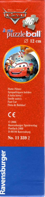 Packaging droite Puzzle Ball Ravensburger de 96 pièces (Cars - 2005)