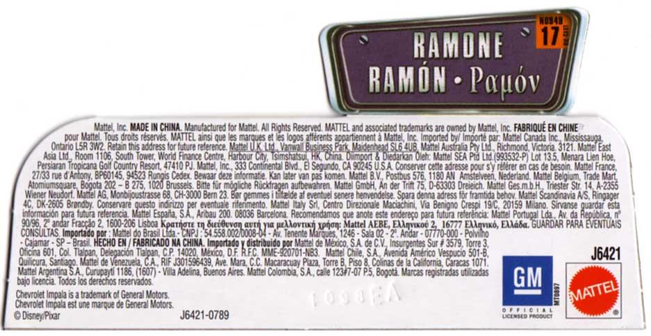Packaging : The World of Car N°15 - Ramone vert (2008)