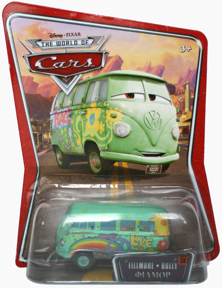 Mattel : The World of Car N°38 - Fillmore (2008) Packaging
