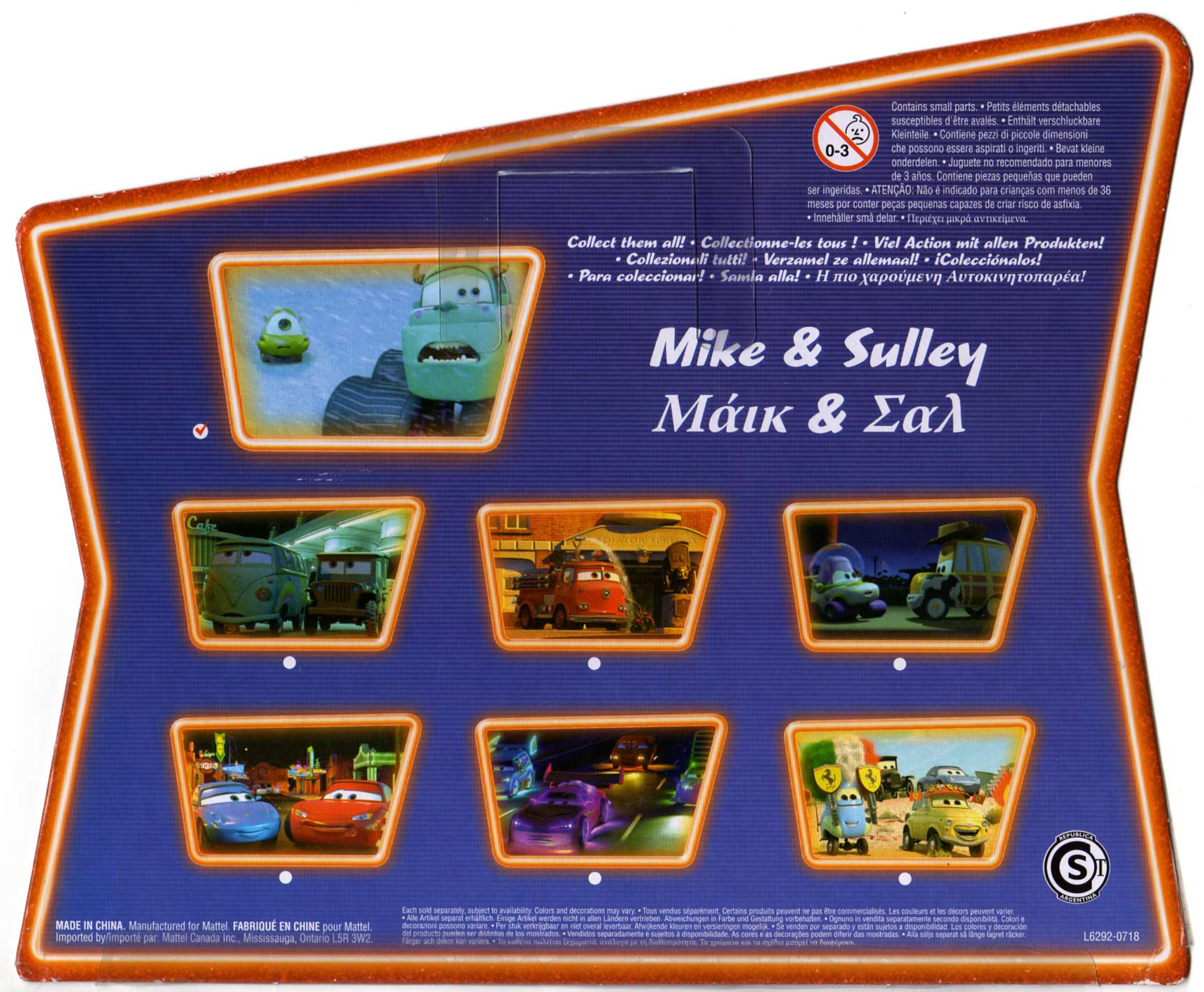 Mattel : Cars Supercharged - Bob & Sully - Packaging