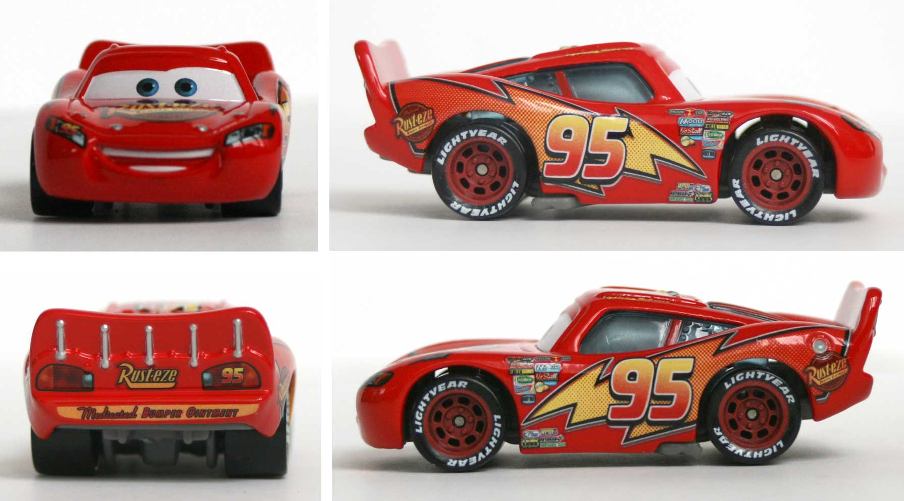 mattel cars supercharged flash mcqueen 2007. Black Bedroom Furniture Sets. Home Design Ideas