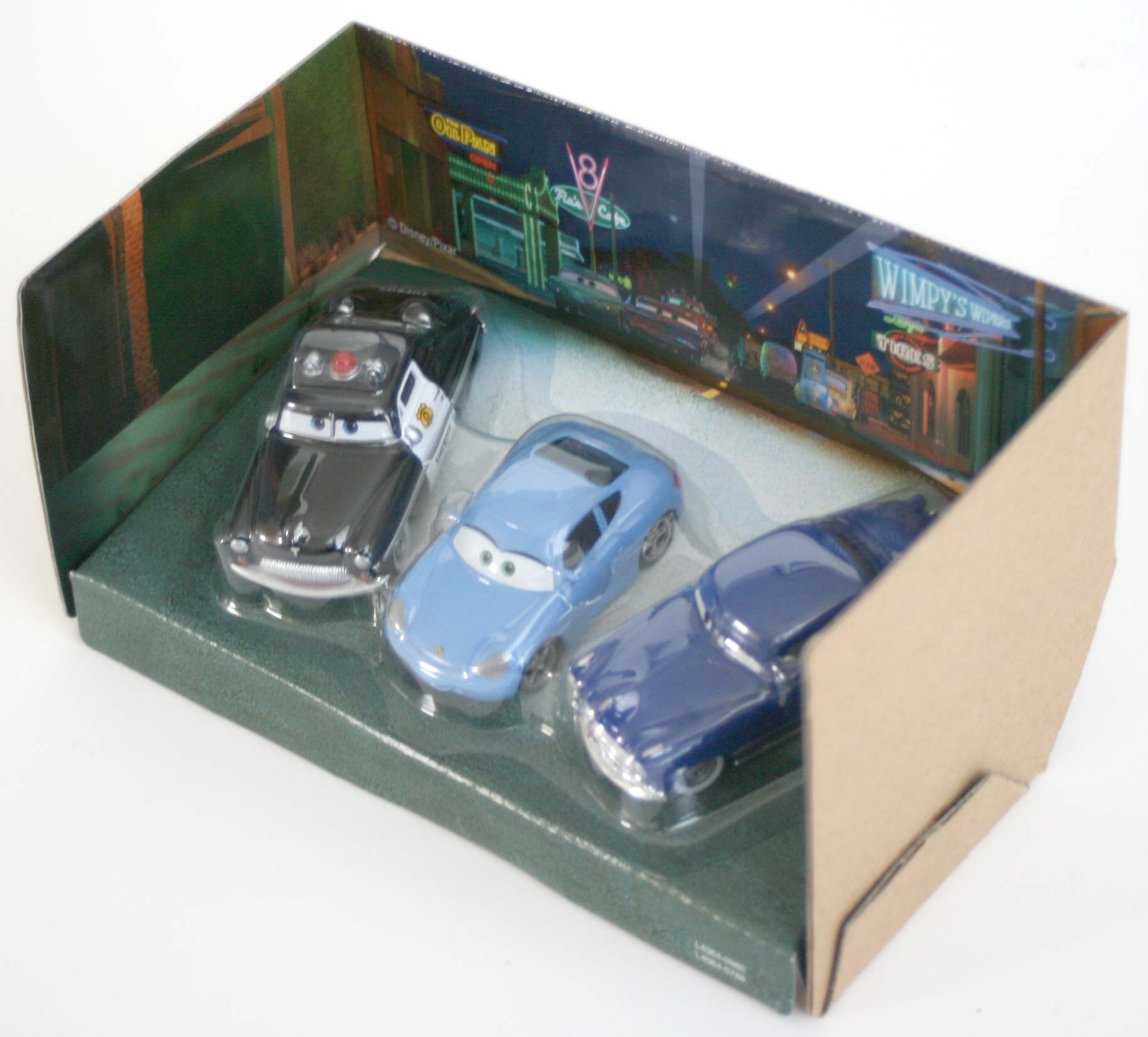 Mattel : Cars Supercharged – Pack Salle d'audience : Sheriff, Sally, Doc Hudson (2007)