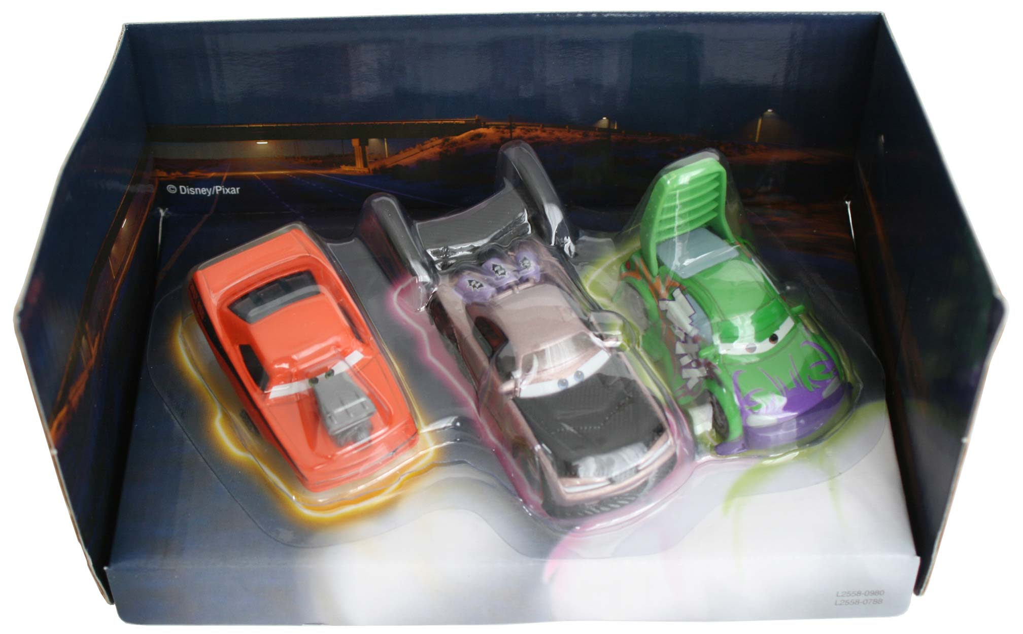Mattel : Cars Supercharged – Pack Tuning : Snot Rod, Boost, Wingo (2007)