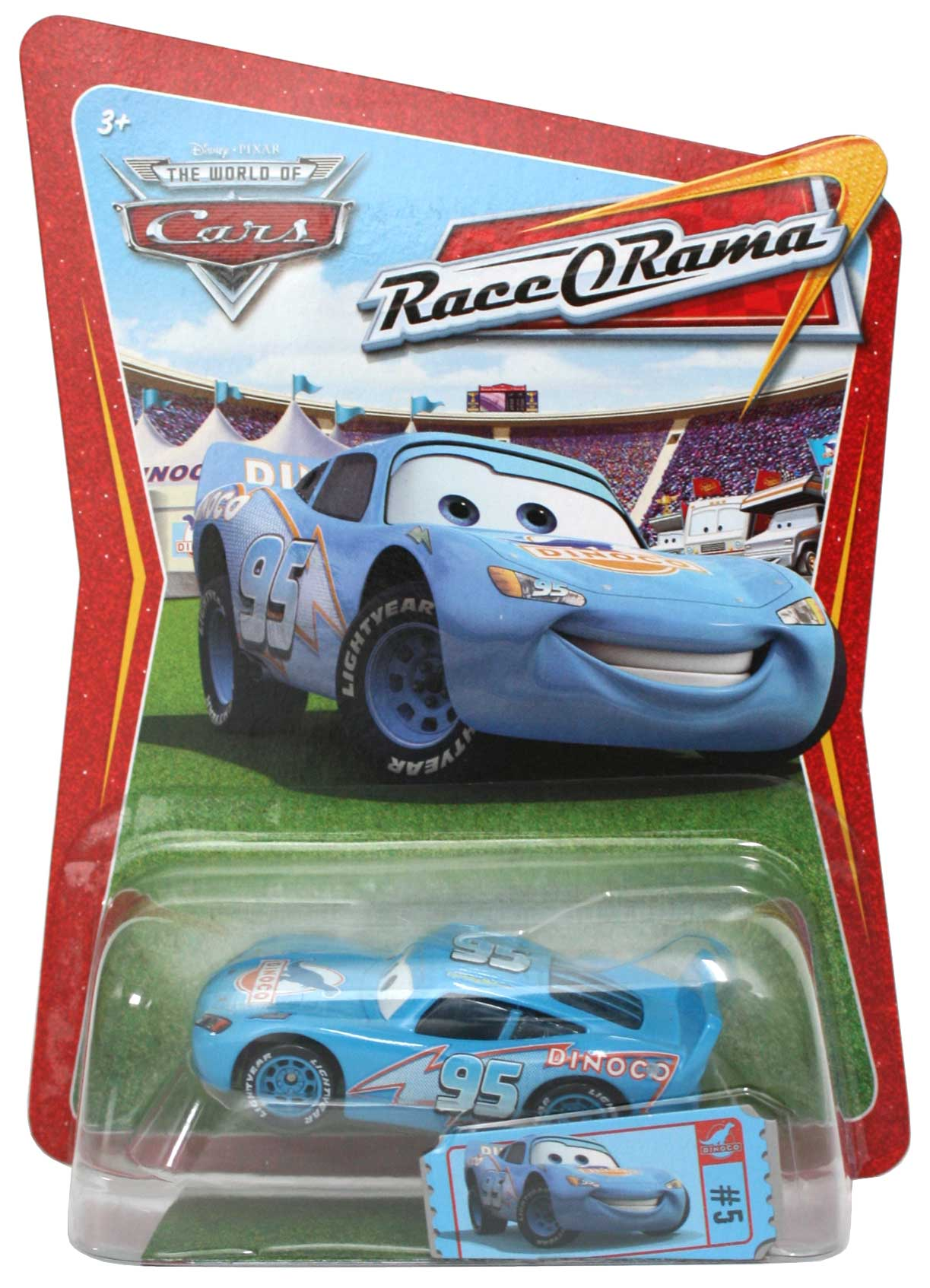 mattel race o rama bleu n 005 flash mcqueen dinoco 2009. Black Bedroom Furniture Sets. Home Design Ideas