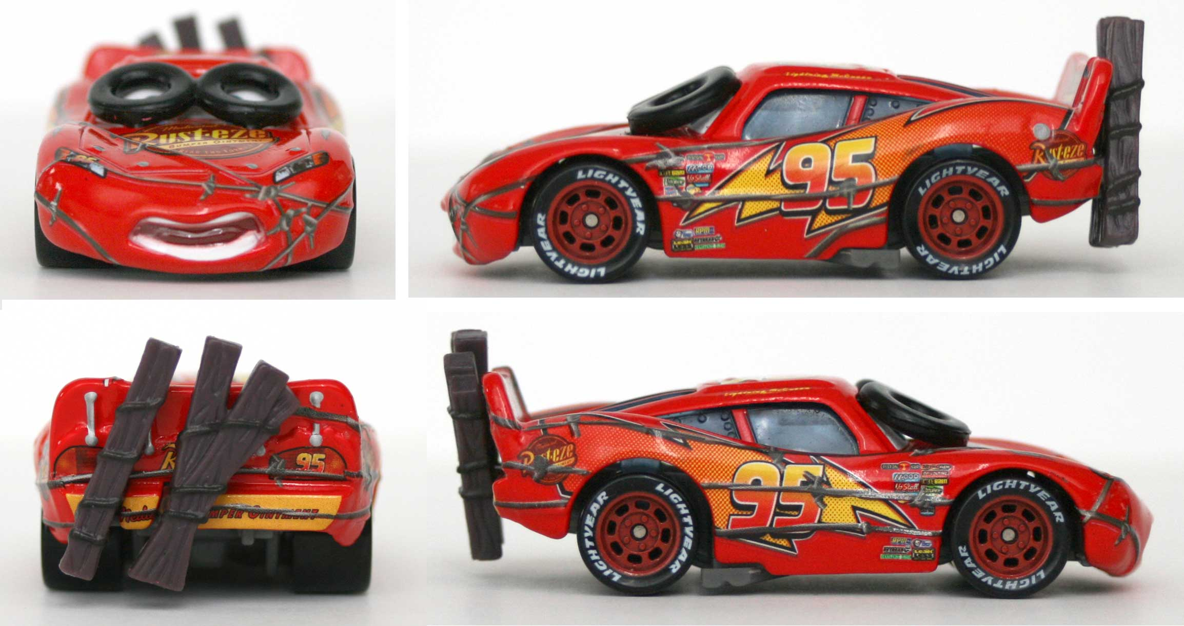 mattel race o rama jaune n 036 flash mcqueen tournoyante 2009. Black Bedroom Furniture Sets. Home Design Ideas