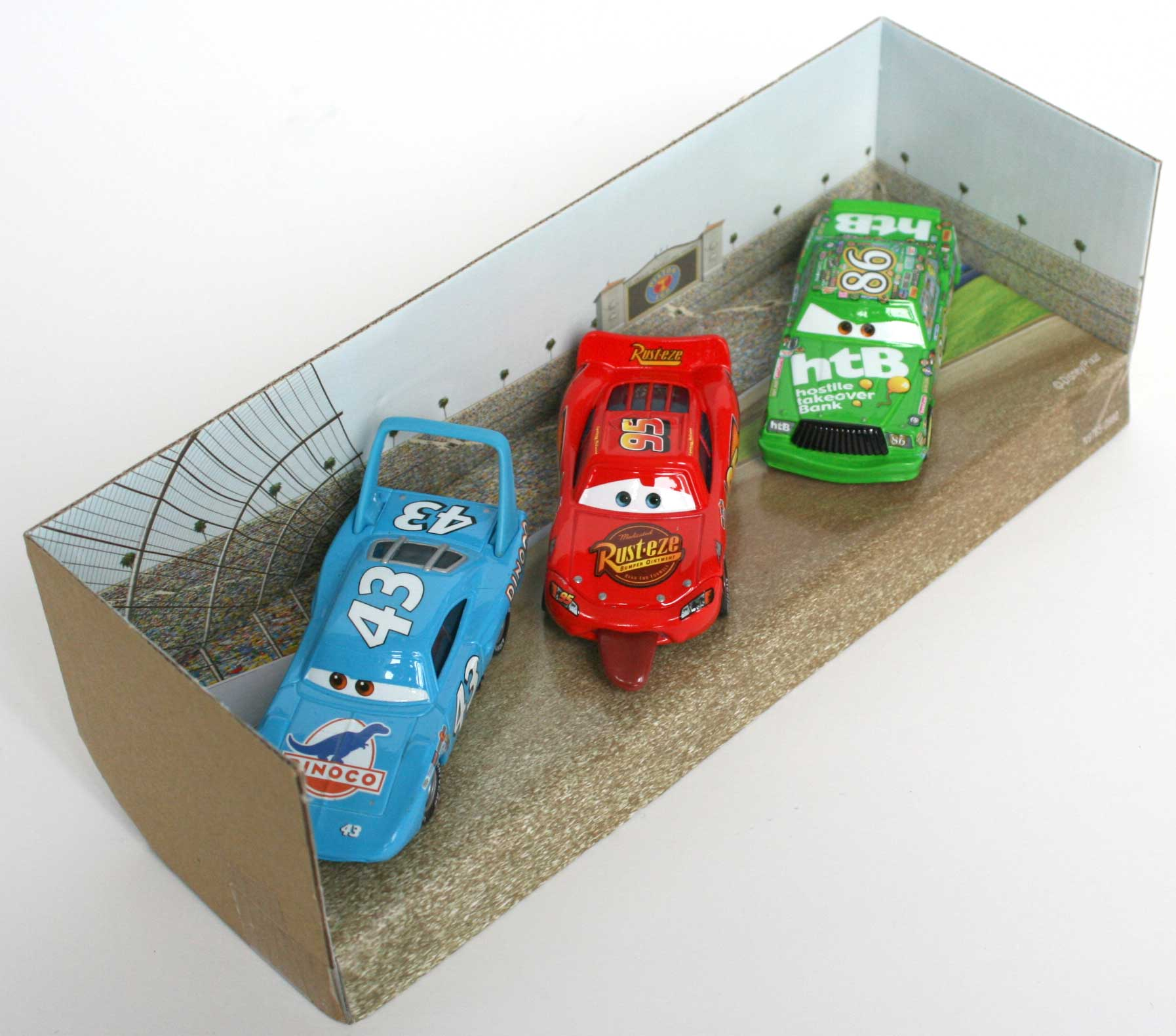 Mattel : Race O Rama – Pack ligne d'arrivée : King, Flash, Chick (2009)