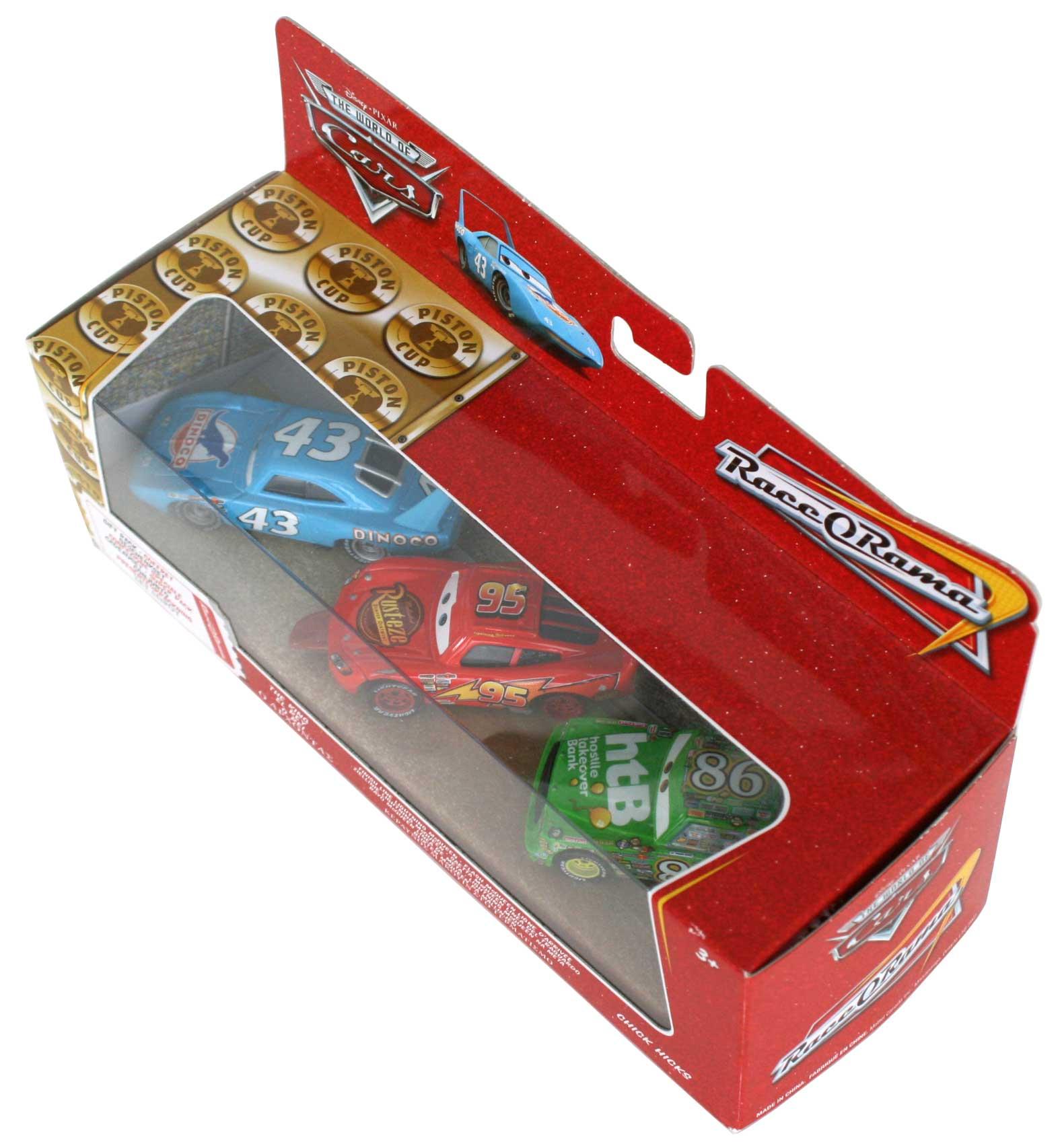 Mattel : Race O Rama – Pack ligne d'arrivée : King, Flash, Chick