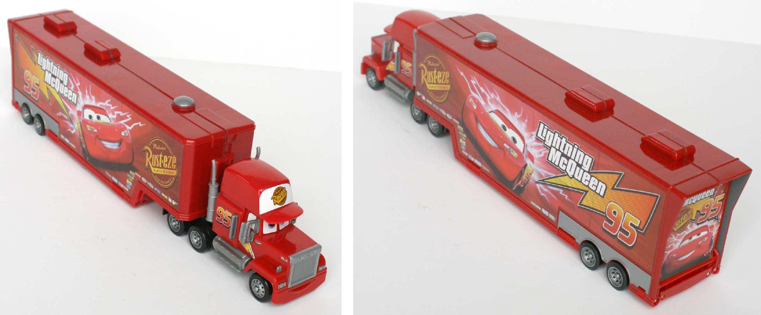 Mack - jouet - Cars - Mattel (remorque ouverte 2009)