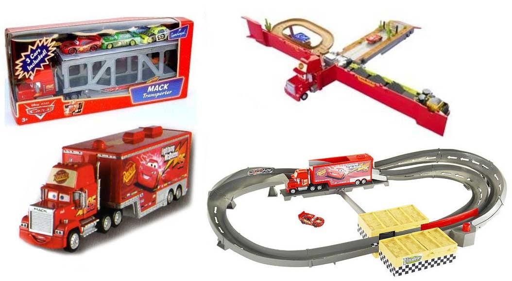 Autres versions de Mack avec une remorque tremplin, avec une remorque diorama, avec une remorque stockage de voitures avec une remorque trop petite