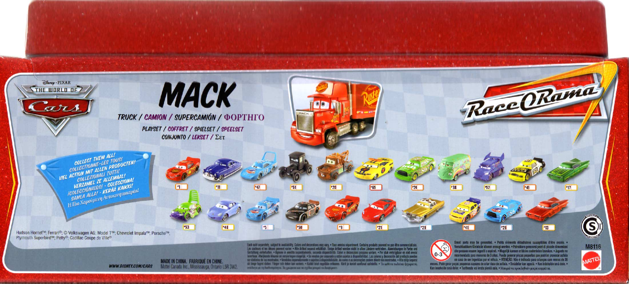 Mack - Cars - Mattel (Packaging dos)