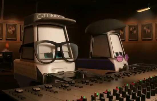 Les ingénieurs son du studio d'enregistrement
