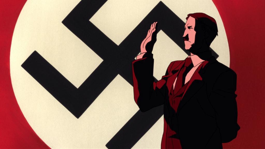 Une image d'Hitler dans le film Conqueror of Shamballah (Fullmetal Alchemist)