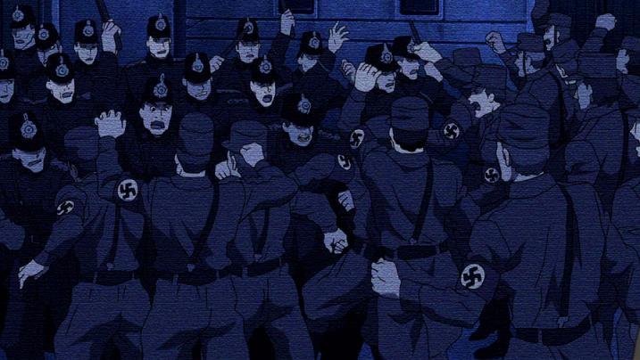 Une image des armées nazies dans le film Conqueror of Shamballah (Fullmetal Alchemist)