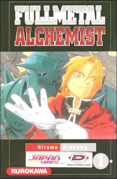 Couverture du tome 1 de Fullmetal Alchemist