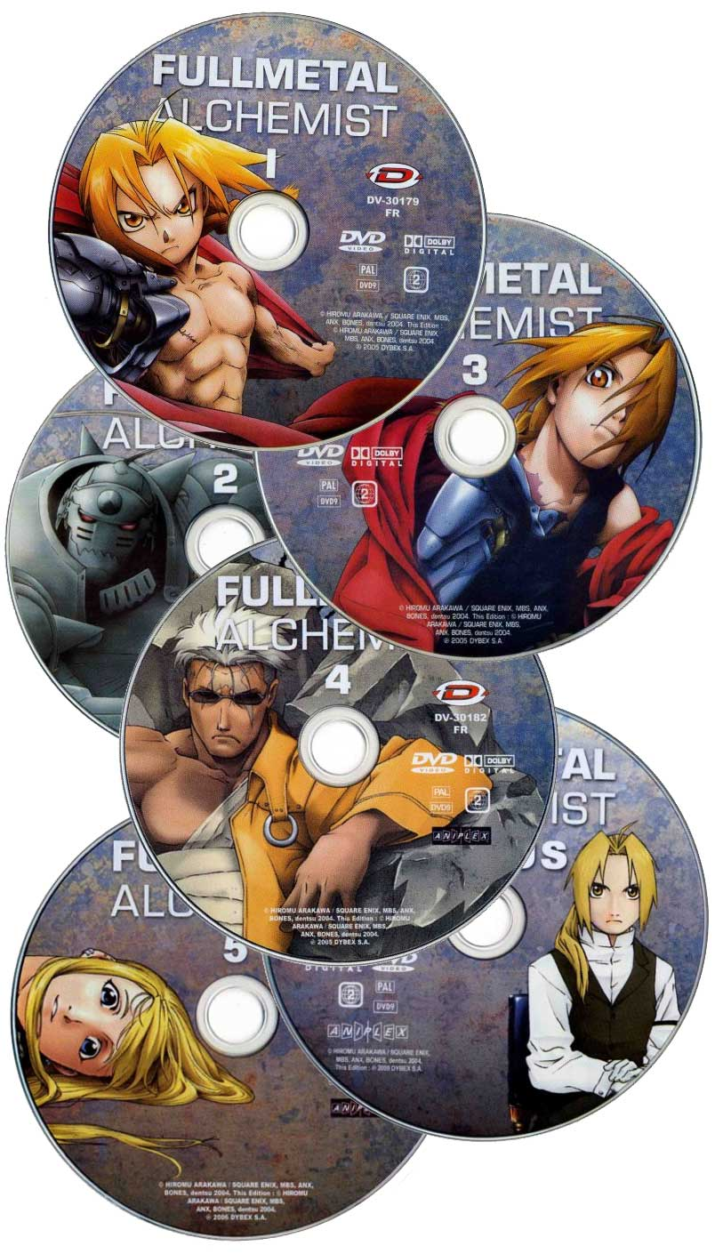 Collection de DVD de la série TV Fullmetal Alchemist (2005)