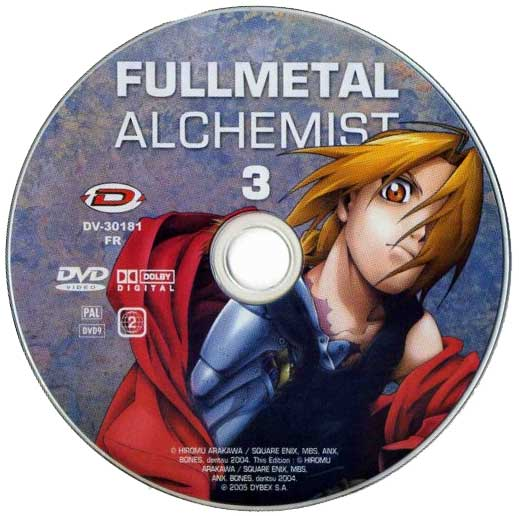DVD 3 de la série TV Fullmetal Alchemist (2005)