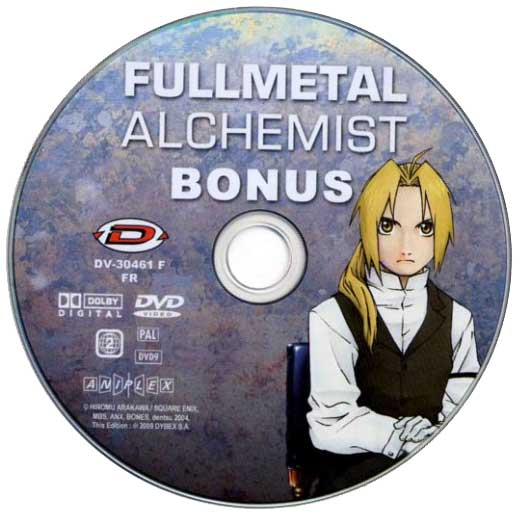 DVD Bonus de la série TV Fullmetal Alchemist (2005)