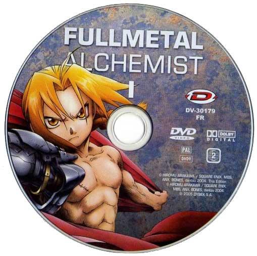DVD 1 de la série TV 2004 Fullmetal Alchemist